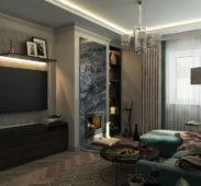 дизайн гостиной комнаты в квартире