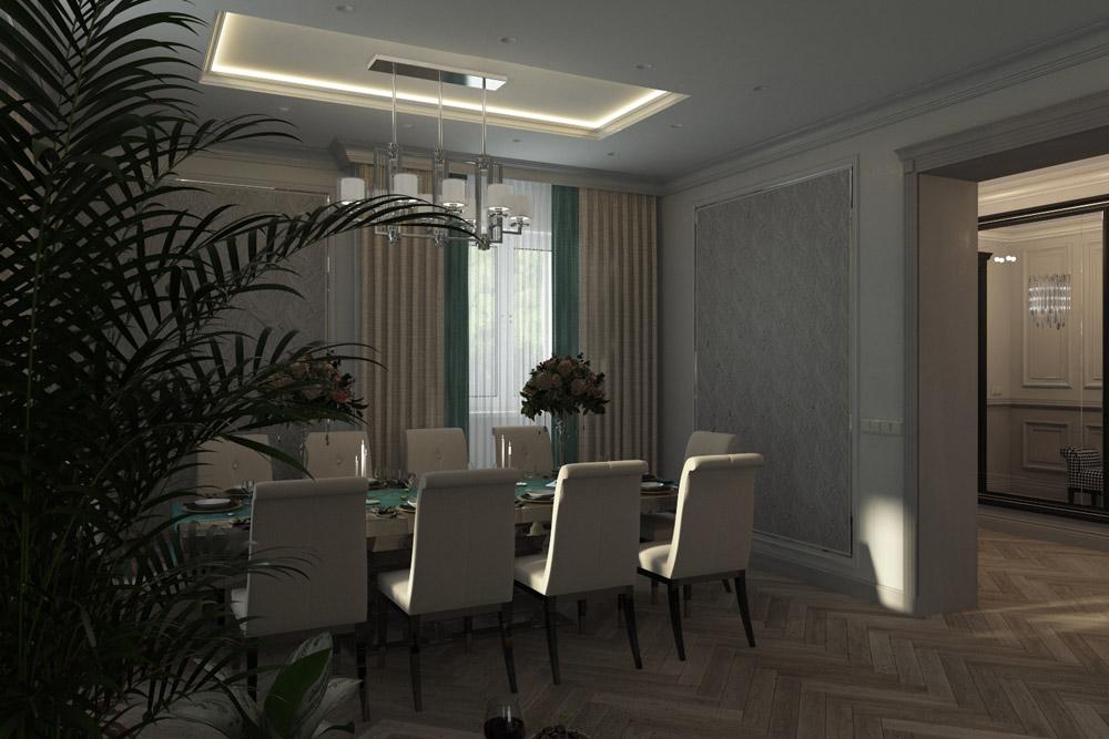 дизайн кухни с гостиной в квартире