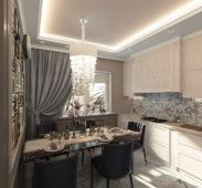 кухня в доме дизайн интерьер